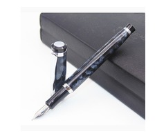 BAOER 508 Snow White and Black Polished Senior gifts Medium Nib Medium Nib Fountain Pen