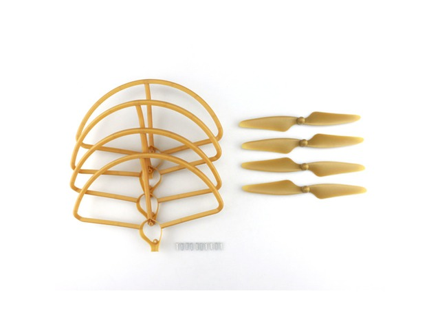 Hubsan H501S H501C RC Quadcopter Sapre Parts Gold CW/CCW Propellers & Protection Cover Set | Free-Classifieds.co.uk