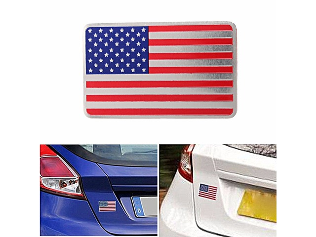 Car American USA Flag Emblem Sticker Metal Badge Decal Decor Universal For Truck Auto | Free-Classifieds.co.uk