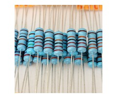 500 Pcs 1W 1% Metal Film Resistor 100 Value 10 ohm-1M ohm Assortment Kit