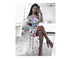 Trendy Slash Neck Floral Maxi Frill Dress
