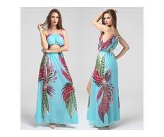 Bohemia Split Bandage Maxi Dress