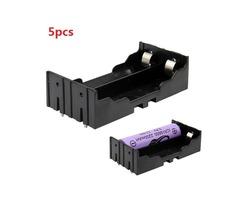 5pcs DIY 2-Slot 18650 Battery Holder With Pins