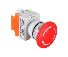 5pcs N/O N/C Emergency Stop Switch Push Button Mushroom 4 Screw Terminals