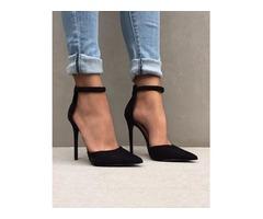 Sexy Ankle Strap Stiletto Pumps