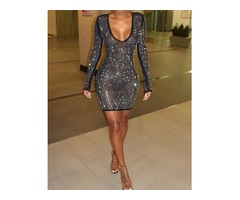 Hot Stamping Mesh Bodycon Dress | free-classifieds.co.uk