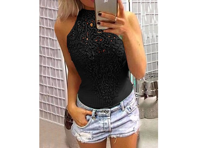 Sexy Hollow Out Lace Crochet Slinky Bodysuit | free-classifieds.co.uk