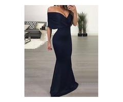 Trendy Off Shoulder Maxi Party Dress