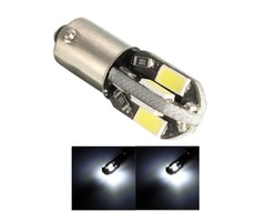 12V Ba9s 2W 100LM 6000K T4W White 6 SMD 5730 LED Dashboard License Wide Light Lamp Motorcycle Car