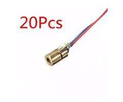 20 Pcs DC 5V 5mW 650nm 6mm Laser Dot Diode Module Red Copper Head Tube
