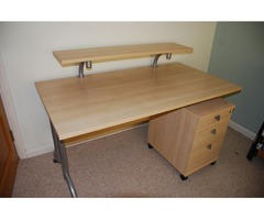 Desk with attachments