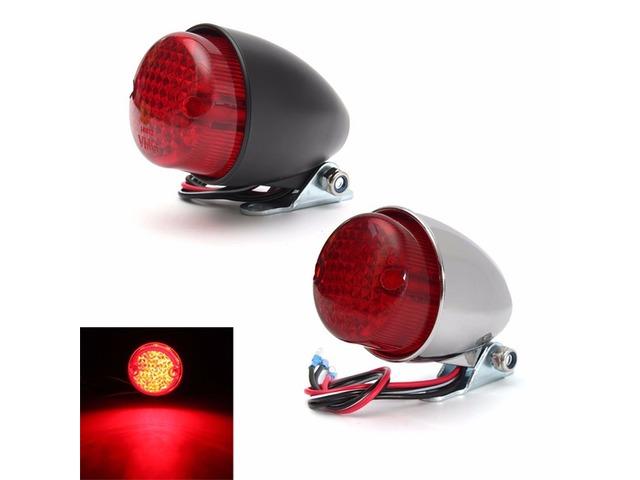 Universal 12V Motorcycle LED Rear Lamp Tail Brake Stop Running Light Black Chrome   free-classifieds.co.uk