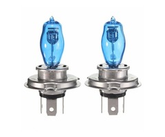 Pair H4 100W 6000K Car Halogen Bulbs Headlight Lamp White