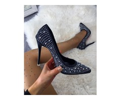 Women Glittering Stiletto Pumps