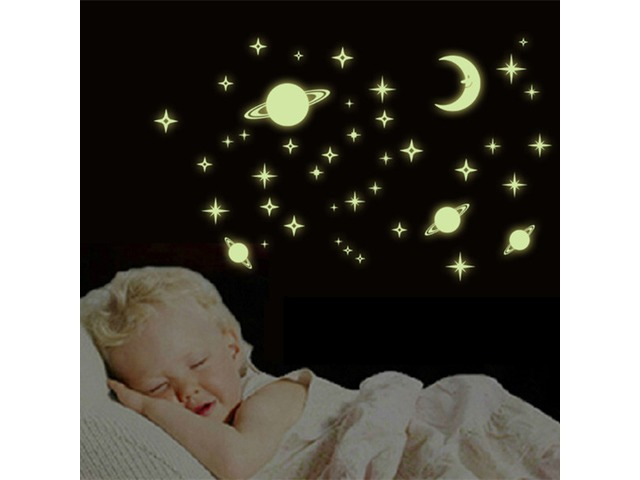 Luminous Wall Stickers Planets World Glow In Darkness Home Room Window Wall Decor | free-classifieds.co.uk