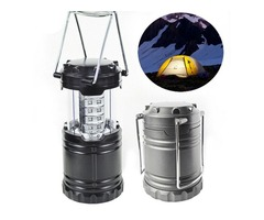 Portable 30 LED Stretchable Lantern Camping Lamp Battery Operated Tent Hiking Light