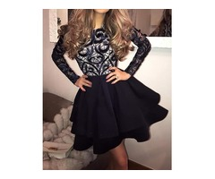 Long Sleeve Sexy Splice Tutu Dress | free-classifieds.co.uk
