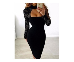 Sexy See Through Cut Out Bodycon Dress