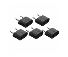 5x USA America To EU Europe Power Plug Travel Charger Adapter Converter