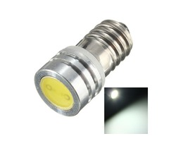E10 COB 1W 1 SMD LED lamp Threaded 6V Xenon Lights Bike Highlight White Car | FreeAds.info