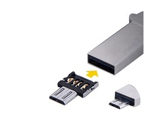 Original DM Embedded Micro USB V8 Male to USB OTG Adapter Converter