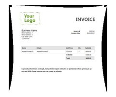 Make Professional Invoices in Second