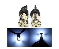 2pcs T20  Side Light Bulbs Lamps Canbus No Error W21 5W T20 6000K LED White Daytime DRL