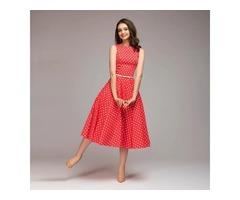 Women O-Neck Sleeveless Vintage Dress