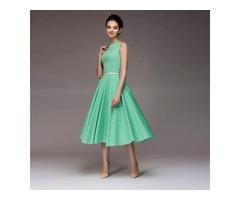 Women O-Neck Sleeveless Vintage Dress | free-classifieds.co.uk