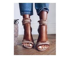 Sexy Tassel Splicing Open Toe Thin Sandals