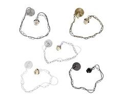 1M E27/E26 Ceiling Rose Chain Pendant Chandelier Light Lamp Bulb Holder Socket