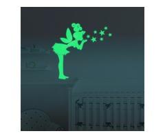 Honana DX-147 57x70cm Fluorescent Glow Angel Blew The Stars Wall Sticker