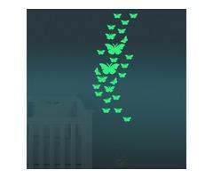 Honana DX-137 12PCS Fluorescent Glow Butterfly Wall Sticker