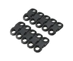 10Pcs Buckles Hook Black For Paracord Bracelets Plastic Clasp Side Release