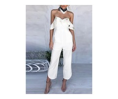Stylish Layered Off Shoulder Jumpsuit
