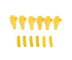 12pcs Yellow Tyre Tire changer Mount Demount Head Duckhead Insert Rim Protector