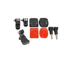 Helmet Accessories Set J Hook Buckle Mount Basic Adapter Screw with 3M Sticker for Gopro Hero 5 4 3