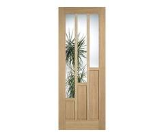 Buy LPD Coventry Glazed Oak Internal Door