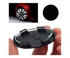 50mm Black Car Wheels Centre Blank Cap Hubcap Covers No Logo