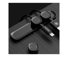 Baseus Magnetic Cable Clip Cable Holder Desktop Cable Management Cord Mount for iPhone 8 X Xiaomi