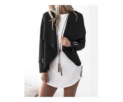 Stylish Cuff Buckle Casual Cardigan Coat