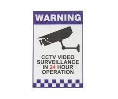 Warning CCTV Security Surveillance Camera Decal Sticker Sign 66mmx100mm Internal