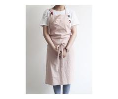 Japanese Solid Color Linen Cotton Vintage Pinafore Dress