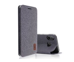 Bakeey Flip Shockproof Fabric Soft Silicone Edge Full Body Protective Case For Xiaomi Mi A2 Lite/ Re
