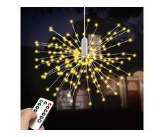 Battery Powered 100LED 8 Modes IP65 13 Keys Remote DIY Firework Fairy String Christmas Light