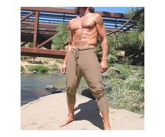 Mens Drawstring Loose Home Comfortable Beach Board Shorts
