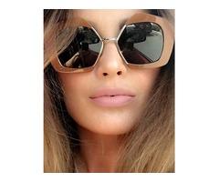Fashion Big Frame Style Lens Sunglasses