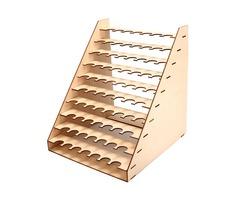 75 Pots Wooden Paint Bottles Storage Rack Holder Modular Master Color Organizer