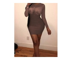 Semi Sheer Long Sleeve Mini Dress