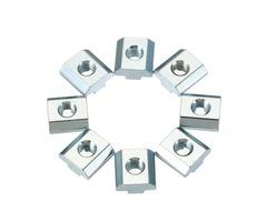 Machifit 20pcs M8 Zinc Plate Coated T Sliding Nut for 4040 Series Alumunium Profiles